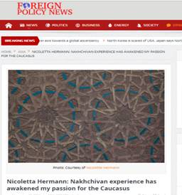 Nicoletta Hermann: Nakhchivan experience has awakened my passion for the Caucasus